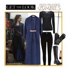 """Get the Look: Pride + Prejudice + Zombies"" by polyvore-editorial ❤ liked on Polyvore featuring Phase Eight, Marina Hoermanseder, River Island, Lanvin, Lancôme, lilyjames, ppzmovie and prideandprejudiceandzombies"