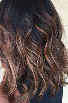 we'd like to show the most 10 hottest caramel balayage hair ideas for brunettes, let's have a look.These are some of our favorite caramel balayage balayage hair ideas to inspire you! Hair Color Balayage, Hair Highlights, Balayage On Black Hair, Brown Highlights On Black Hair, Color Highlights, Ombre On Black Hair, Medium Balayage Hair, Asian Balayage, Subtle Balayage