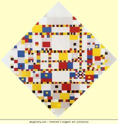 """BOOGIE WOOGIE """"Victory Boogie Woogie"""" is the last painting by the Dutch painter Piet Mondrian. It was made but not completed in the year that Mondrian died. Piet Mondrian, Mondrian Art Projects, Theo Van Doesburg, Boogie Woogie, Dutch Painters, Dutch Artists, Art Abstrait, Elements Of Art, Geometric Art"""