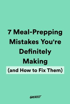 Master your meal pre