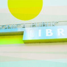 Santa Monica Library v3 Stretched Canvas by Cally Creates   Society6