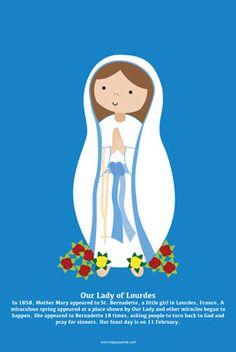 Happy Saints: Our Lady of Lourdes