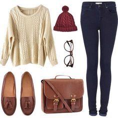 necesito loafers and a red beanie.