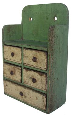 Cute little Spice Chest (and in my favorite color of sage green!  Pat B.)