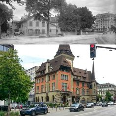 Rue de la Mairie 1901 -> 2016 Ancienne photo : BGE, Centre d'iconographie genevoise #eauxvives #genève #geneve #geneva #rephotography Louvre, Photos, Street View, Mansions, House Styles, Building, Travel, Instagram, Living Water