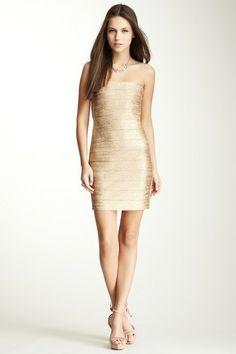 Bondage Glitter Mini Dress