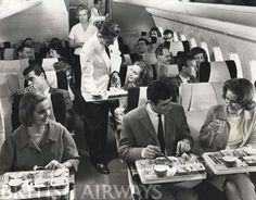 British Airways. BOAC Vickers VC-10. Economy Class.