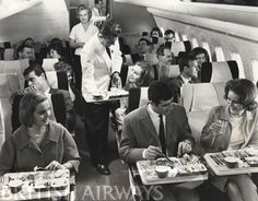 British Airways. BOAC Vickers VC-10. Economy Class. 1060s