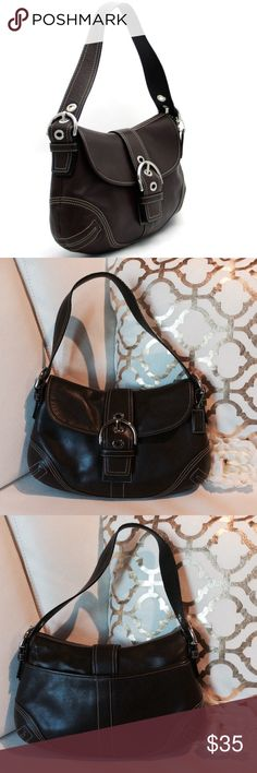 NWOT COACH BROWN LEATHER BUCKLE FLAP PURSE F10192 COACH BROWN LEATHER BUCKLE FLAP PURSE F10192 Handbag: Brown Leather Buckle Flap Purse F10192, Brown - Dark, Leather, 13 X 8 1/2 Coach Bags Shoulder Bags
