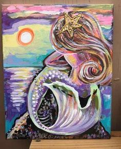 A personal favorite from my Etsy shop https://www.etsy.com/listing/505337484/mermaid-sunset-original-painting-art