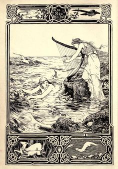 The Sea Maiden Illustration by John D. From Celtic Fairy Tales collected by Joseph Jacobs. Siren Mermaid, Mermaid Art, Folklore, Vintage Mermaid, Mermaids And Mermen, Fairytale Art, Celtic Art, Celtic Dragon, Merfolk