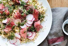 Rumpsteak mit Bulgur & Quinoa, Radieschen und Pistou