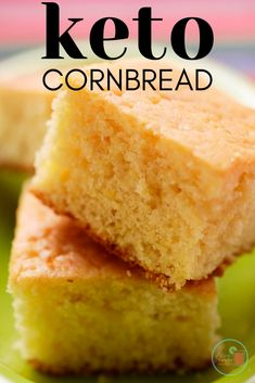 How to Make Keto Low Carb Cornbread!! Youve tried keto cloud bread, but how about keto cornbread? See how to make keto low carb cornbread to pair with your keto chili, or just eat on its own. Your tastebuds will thank you!!! #keto #lowcarb #ketorecipes #lowcarbrecipes