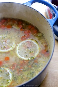 lemon chicken quinoa soup...used 7.5 c of broth, brought to a boil with seasonings, added quinoa and reduced heat, added 2 whole chicken breasts and veggies and cooked ~20 mins. removed chicken and shredded, continued cooking quinoa with veggies for a little longer, then added chicken back in when ready to serve. decreased lemon amount, but would do full amount next time