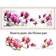 5D resina redonda de cristal pintura diamante Diamond bordado Non-full hogar decoración rosa patrón de Magnolia flores DIY de punto de cruz costura(China (Mainland))