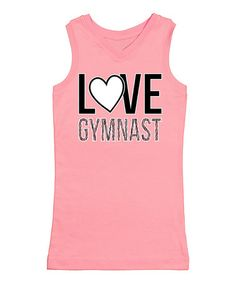 Light Pink 'Love Gymnast' Racerback Tank #zulily #zulilyfinds