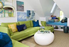 Lime corner sofa