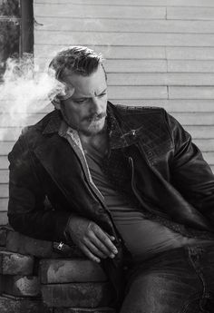 Joel Kinnaman. F doesn't smoke anymore or wear leather but I can totally see him sitting on a pile of bricks looking  pensive and tortured, letting the dad bod be great.