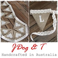 Custom Lace Burlap Hessian Vintage Wedding Bunting Country Chic Rustic Shabby | eBay