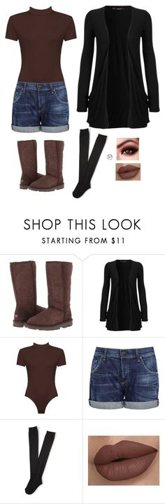 """""""Untitled #211"""" by emaleis ❤ liked on Polyvore featuring UGG, WearAll, Citizens of Humanity, Aéropostale and EWA"""