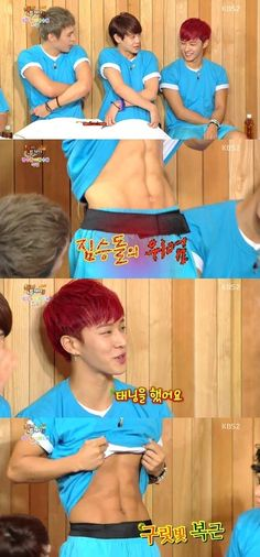 BEAST's Yoseob and Kikwang Have an Abs Battle