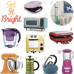 10 Colorful Kitchen Appliances ... I love this :)