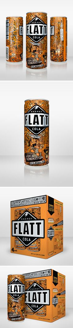 "This is similar to the amount of clutter I wanted with Lobo, but ornate design inspired from viking carvings.  FLATT energy COLA - ""Flatt Energy Cola was dreamed up and schemed up by a couple of college grads in Madison, Wisconsin. A little spicy and a lot smooth, Flatt takes a turn from the average energy drink by acknowledging the obvious: very few people are actually going to go cliff jumping or dirt biking."""