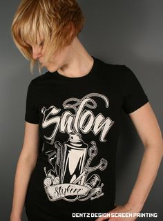Salon Clothing  Salon Stylin' tshirt van DentzDesign op Etsy