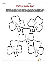 Lucky Day vowels worksheet for kids