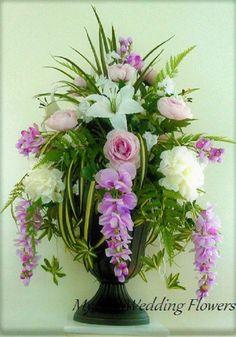 Types Of Purple Flowers Products Flowers Garden Ideas Tropical Flower Arrangements, Funeral Flower Arrangements, Rose Arrangements, Beautiful Flower Arrangements, Beautiful Flowers, Tropical Flowers, Alter Flowers, Church Flowers, Funeral Flowers