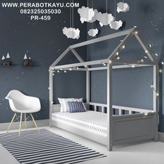 Kid's room in grey with single bed by Grey is a great colour for creating a beautiful, restful bedroom. Browse our favourite grey bedroom design ideas to inspire your scheme