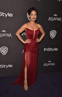 Golden Globes After Party Dresses - Golden Globes Red Carpet Fashion -  GRACE GEALEY InStyle And Warner Bros. 73rd Annual Golden Globe Awards Post-Party