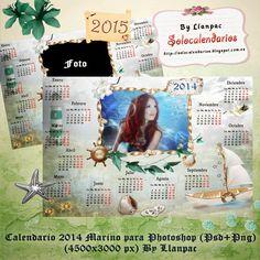 Recursos Photoshop Llanpac: Calendario Nº5 para el 2015 con motivos marinos pa...