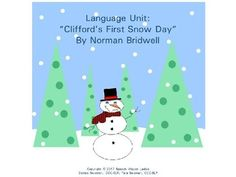 "Language Unit: ""Clifford's First Snow Day"" by Speech Wagon Ladies 