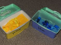 Sensory Bins Color Games for Toddlers -- Moms Have Questions Too ...