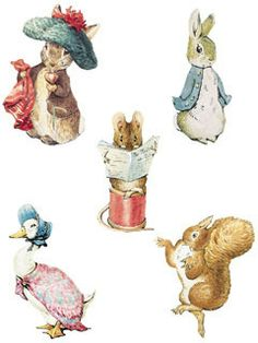 WALLIES Wallpaper Cutouts 25 Beatrix Potter Peter Rabbit by AnaWho, $10.00