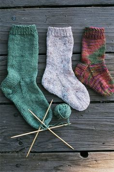 Easy Children's Cuff-Down Sock from Knitting Pure and Simple by Diane Soucy ... I have several KP patterns for various socks and sweaters. Great basics.