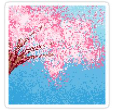 Gorgeous pixel sakura / cherry blossoms against a blue sky. • Also buy this artwork on stickers, apparel, phone cases, and more.