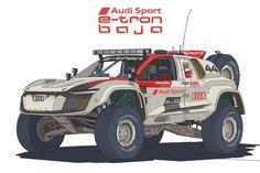 Cool Car Drawings, Trophy Truck, Street Racing Cars, Car Illustration, Audi Sport, Cute Cars, Batmobile, Rally Car, Concept Cars