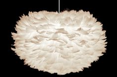 The Umage Eos Mini feather lamp shades softness and its oval shape creates a lovely ambient light suitable for any room, anytime for relaxing in its pleasant glow. Modern Pendant Light, Pendant Light Fixtures, Ceiling Pendant, Ceiling Lamp, Pendant Lighting, Ceiling Lights, Dome Ceiling, Ceiling Canopy, White Ceiling