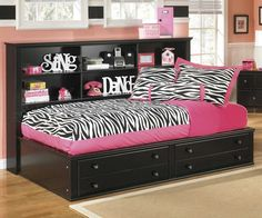Shop Ashley Furniture Jaidyn Black Full Bookcase Storage Bed with great price, The Classy Home Furniture has the best selection of Kids Beds, Beds to choose from Full Bed With Storage, Daybed With Storage, Bedside Storage, Storage Beds, Extra Storage, Bookcase Bed, Bookcase Storage, Storage Drawers, Black Bookcase