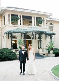 Tuxedo: Seize sur Vingt - http://www.stylemepretty.com/portfolio/seize-sur-vingt Wedding Dress: Monique Lhuillier - http://www.stylemepretty.com/portfolio/monique-lluhillier Photography: Heather Waraksa - http://www.stylemepretty.com/portfolio/heather-waraksa   Read More on SMP: http://www.stylemepretty.com/2015/06/12/traditional-romantic-berkshire-wedding/