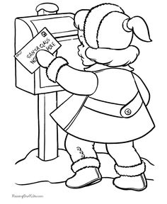 kids printable christmas page a letter to santa christmas coloring pagescoloring book