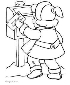 Kids printable Christmas page - A letter to Santa!