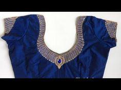 Beautiful Blouse work designs with kundan, mirror, zardosi etc - YouTube