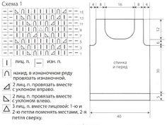 Схема ажурного узора для вязания летнего топа спицами