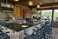 """Acquire excellent recommendations on """"outdoor kitchen designs layout"""". They are … Acquire excellent recommendations on """"outdoor kitchen designs layout"""". They are actually readily available for you on our web site. Outdoor Kitchen Countertops, Outdoor Kitchen Bars, Outdoor Kitchen Design, Kitchen Island, Outdoor Kitchens, Bbq Island, Luxury Kitchens, Outdoor Living Areas, Living Spaces"""