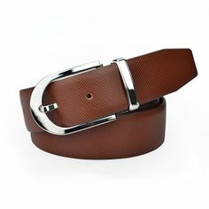 Aliexpress.com : Buy 2013 New Arrival Fashion Pin Buckle Dark Brown Men's Cowhide Genuine Leather Belt Straps For Jeans Free Shipping from R...