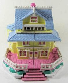 Polly Pocket Vintage Clubhouse Victorian Dollhouse Doll
