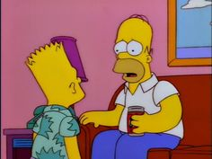 """""""Bart, where'd you get that shirt."""" – Homer Simpson. """"came out of the closet"""" - Bart"""